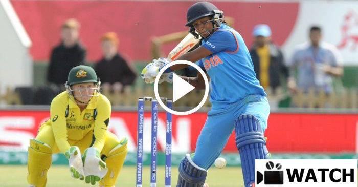 WATCH: Harmanpreet Kaur smashing seven sixes against Australia in WWC 2017 semi-final