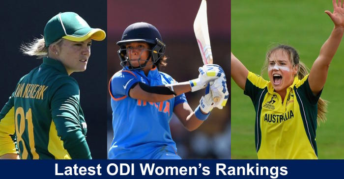 ICC announces Women's ODI team, batters, bowlers and all-rounders rankings