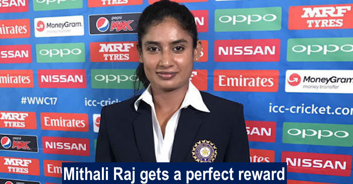 Team India skipper Mithali Raj to be awarded with a precious gift