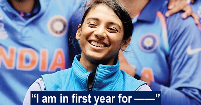 Smriti Mandhana gives a hilarious answer when asked about her academics