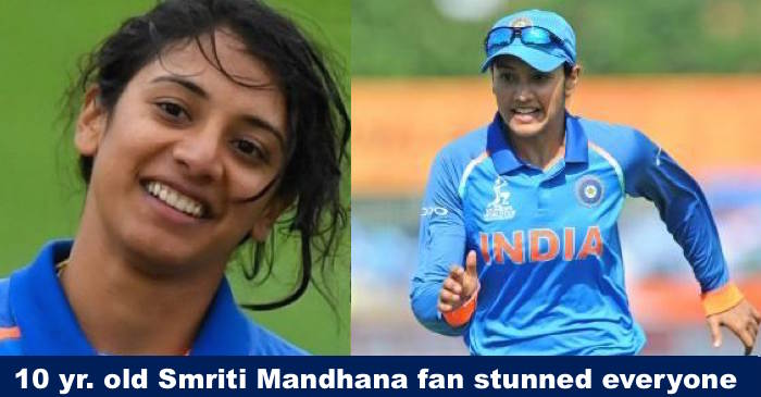 A 10 year old female fan of Smriti Mandhana left everyone speechless and the reason is mindblowing