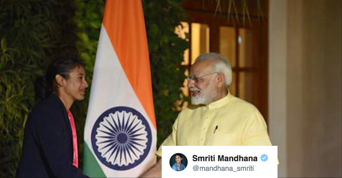 Smriti Mandhana's reply to PM Narendra Modi is winning hearts