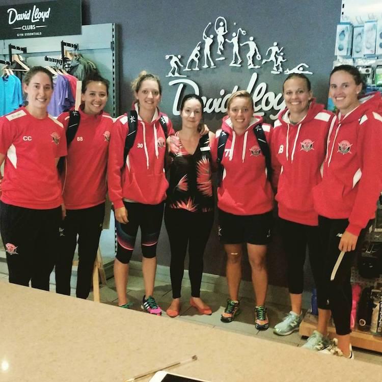 Sarah Taylor with Lancashire Thunder teammates
