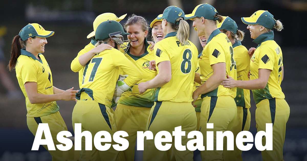 Ashes regained by Australia