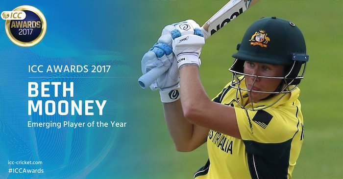 Beth Mooney 2 ICC Awards 2017