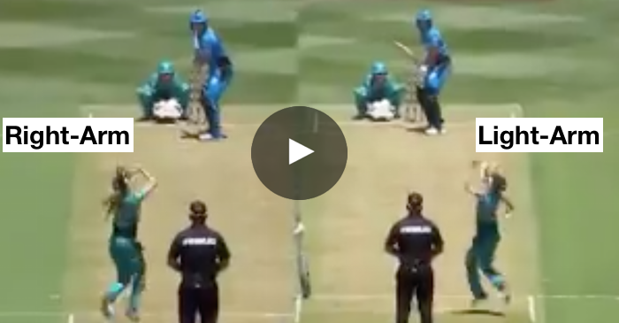 WATCH: Jemma Barsby bowls with both right and left arm in the same over