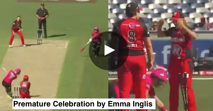 VIDEO: Celebration blunder leads Melbourne Renegades vs Sydney Sixers game to super over
