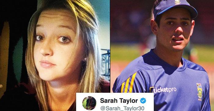 Sarah Taylor, Quinton De Kock