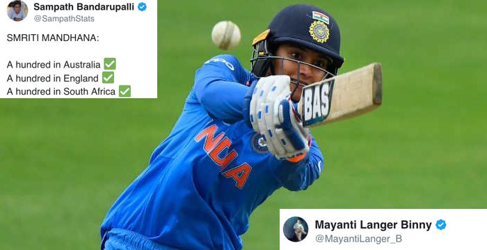 Twitter erupts as Smriti Mandhana smashes record 135 in 2nd ODI against South Africa