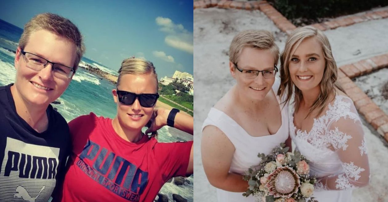 Lizelle Lee ties the knot with her girlfriend Tanja Cronje